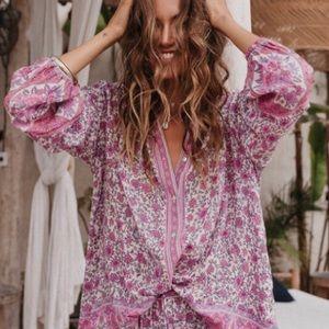 Tops - Boho Blossom Floral Retro Gypsy Jasmine Blouse